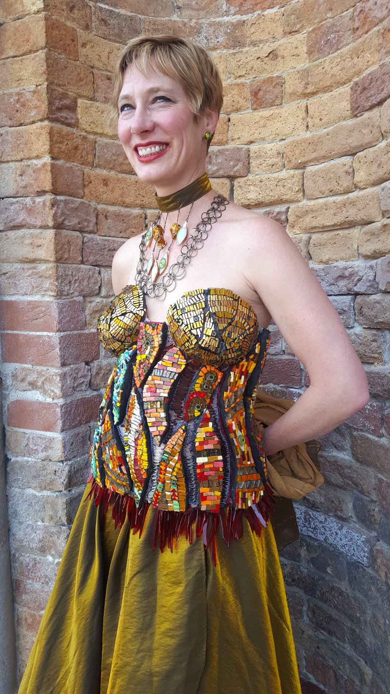 Mosaic Glass Dress by Carrie Strope