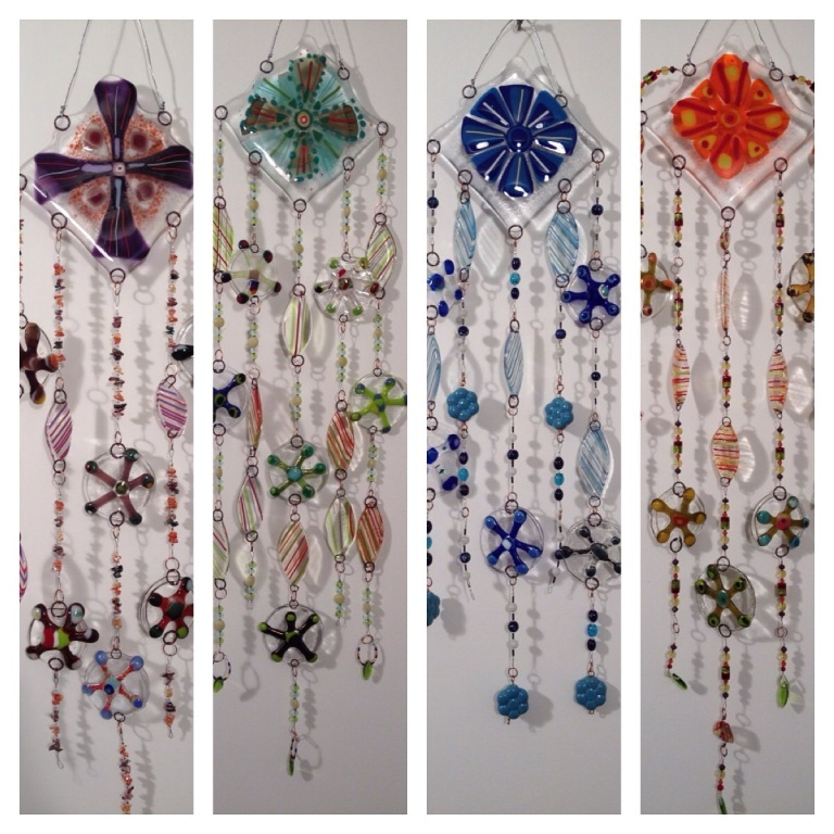 Beaded Fused Glass Suncatchers