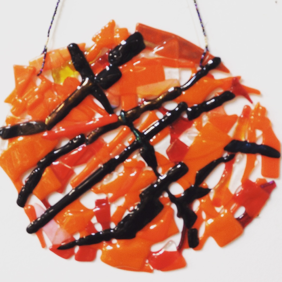 Fused Glass Basketball
