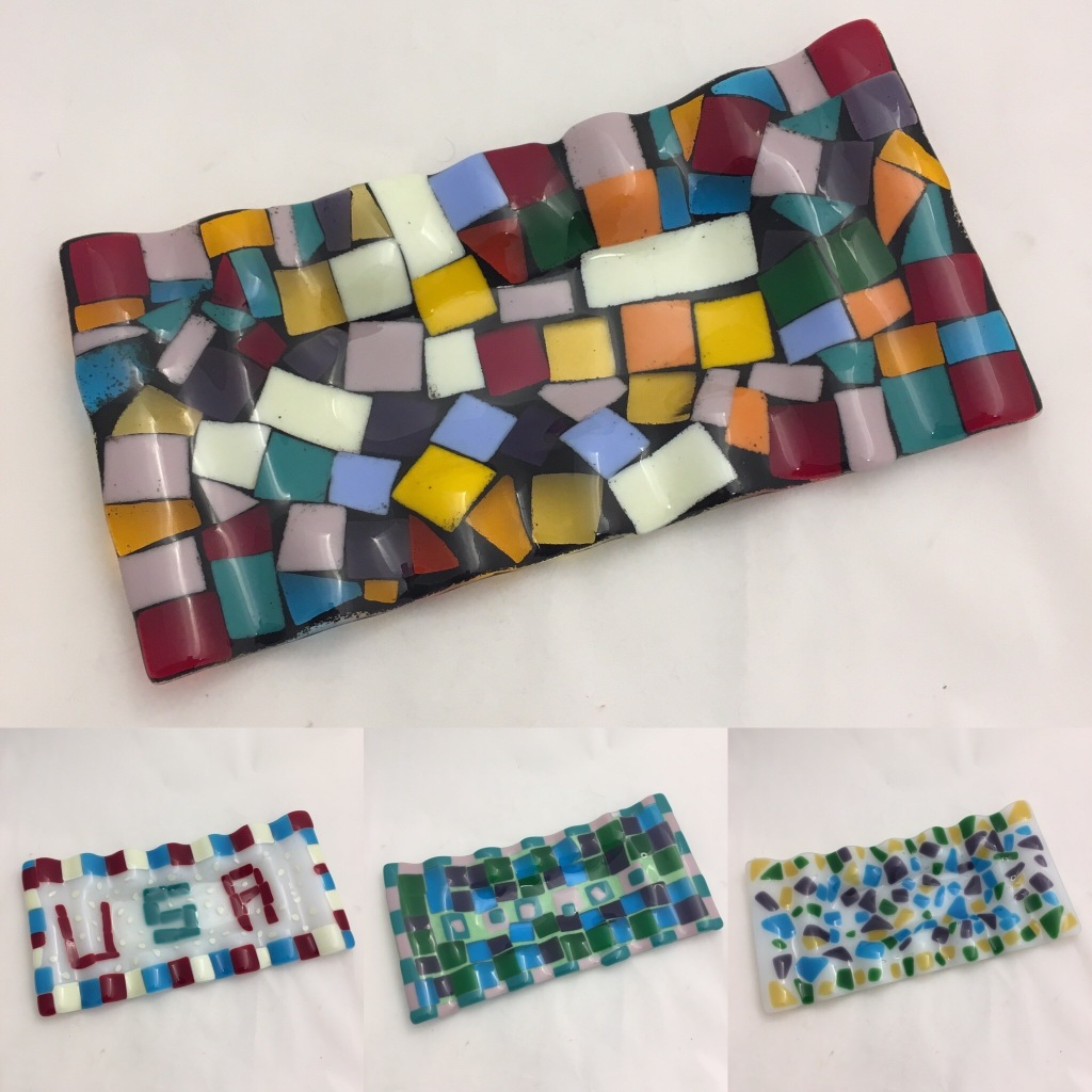 Rectangular Fused Glass Trays
