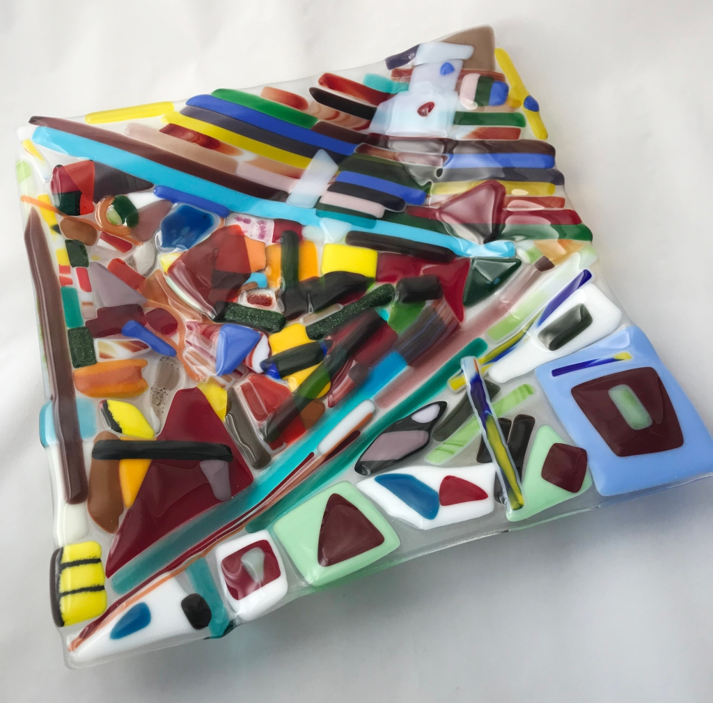 Square Fused Glass Platter