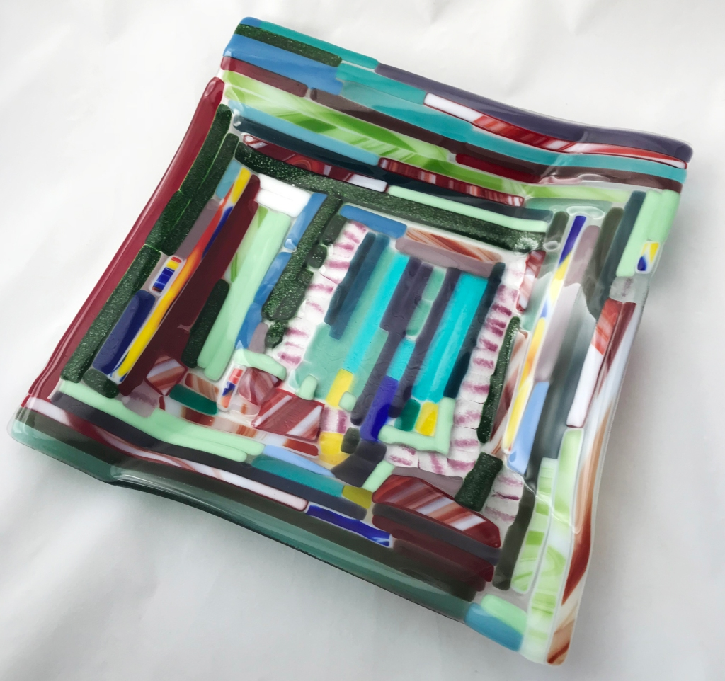 Square Fused Glass Bowl