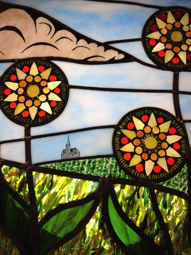 Stained Glass Window Nebraska Landscape