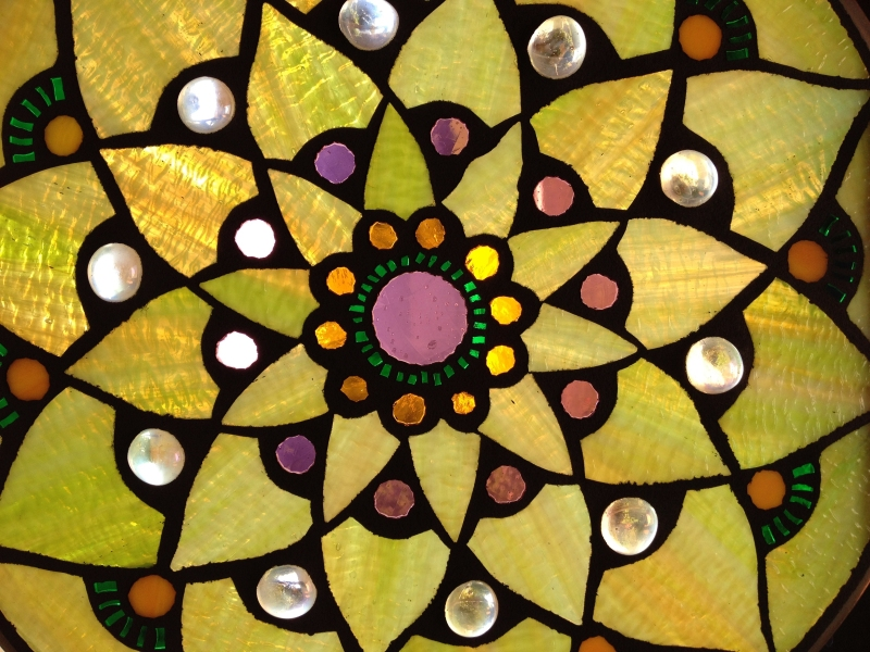 green lotus mosaic