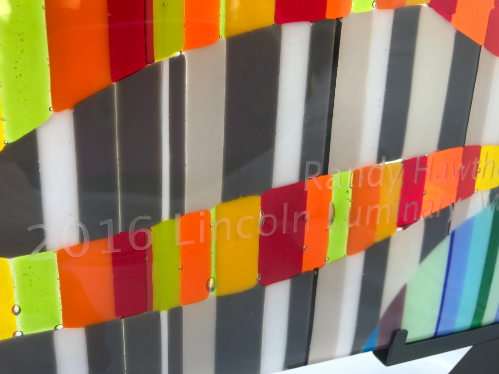 sandblasted glass in relief