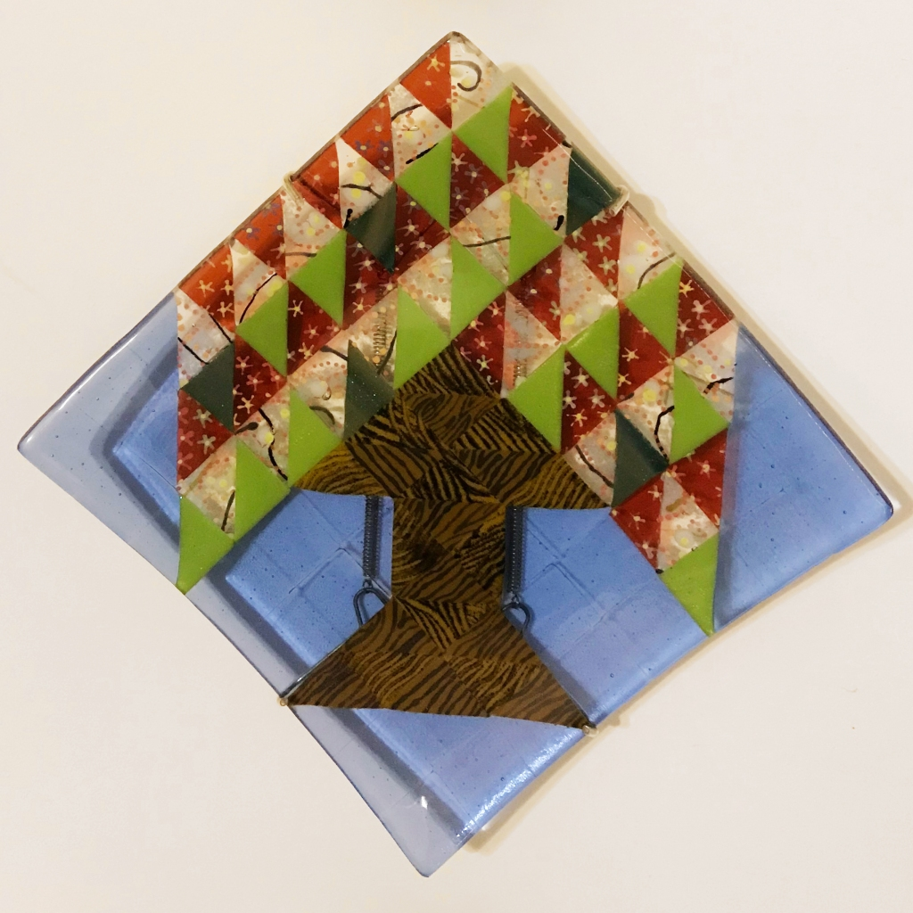 fused glass tree of life spring