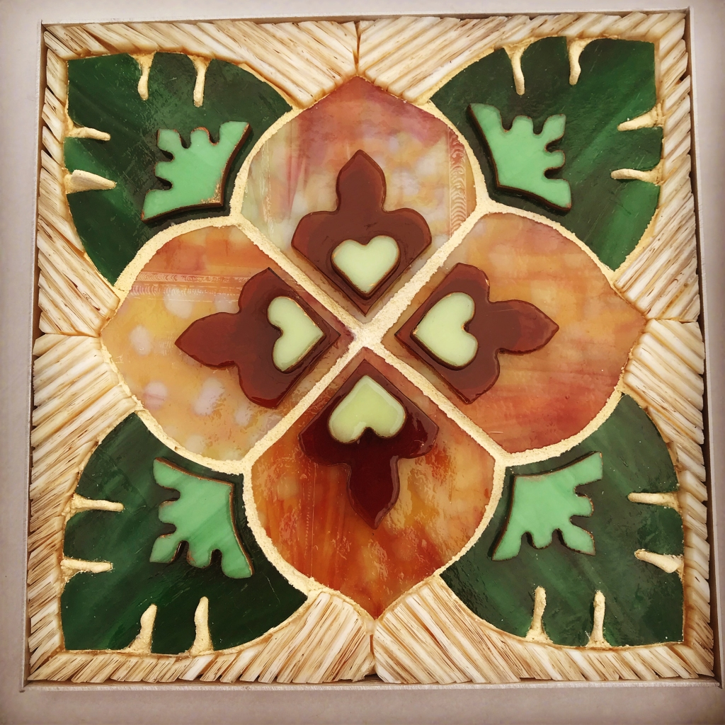 stained glass mosaic flower